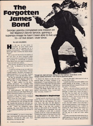 The Forgotten James Bond - P.32 (Starlog #75)