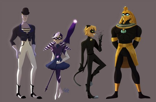 Miraculous Ladybug Hintergrund titled The Mime, Stormy Weather, Copycat and the Pharaoh