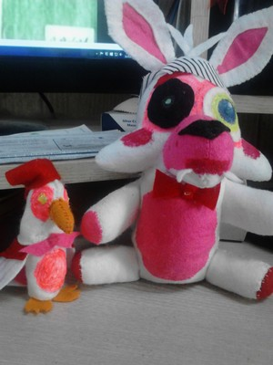 Toy Foxy/Mangle and burung beo, kakatua Plushies