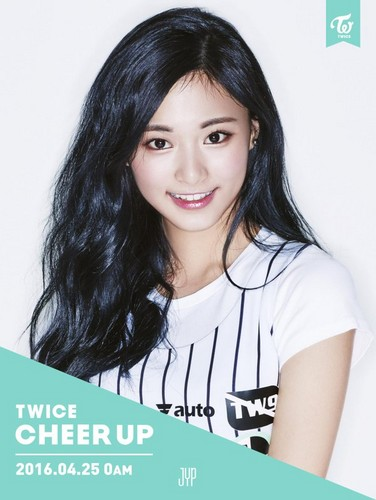 Twice (JYP Ent) वॉलपेपर with a portrait titled Tzuyu Cheer Up Teasers