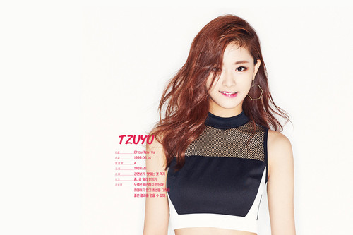Twice (JYP Ent) پیپر وال probably with a top, a playsuit, and a bustier, بسٹیر titled Tzuyu's پیپر وال