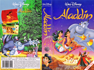 Walt Disney VHS Covers - Aladin (Danish Version)