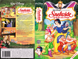 Walt डिज़्नी VHS Covers - Snow White and the Seven Dwarfs (Danish Version)