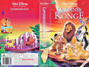 Walt 디즈니 VHS Covers - The Lion King (Danish Edition)