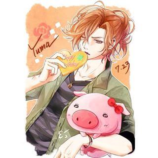 Diabolik Kekasih kertas dinding possibly with Anime titled Yuma