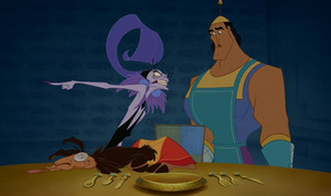 Yzma Yells at Kronk in The Emperors New Groove