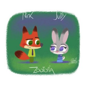 Zootopia's Nick and Judy
