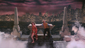 Zuul and Vinz leave the altar - ghostbusters photo