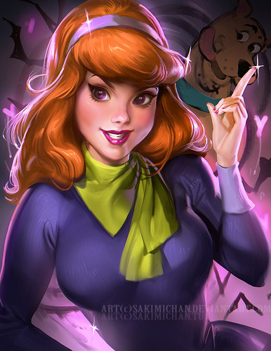 Scooby-Doo wallpaper titled daphne   by sakimichan d8cwd1h