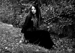 dark গথ দেশীয় lady