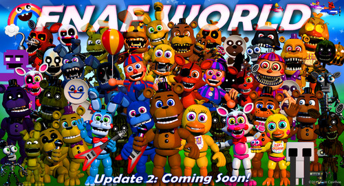 Five Nights at Freddy's پیپر وال entitled fnafworld - goofyrainbow