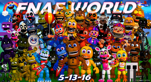Five Nights At Freddy's hình nền titled fnafworld update 2 - release ngày