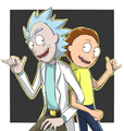forever rick and morty door aimyneko d9p2lvt