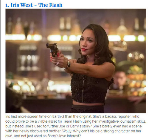 The Flash (CW) Hintergrund entitled iris west