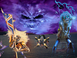iron maiden wallpaper number 1 oleh painkillers
