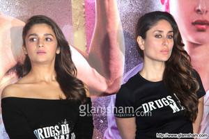 kareena shahid and alia at udta punjab trailer launch
