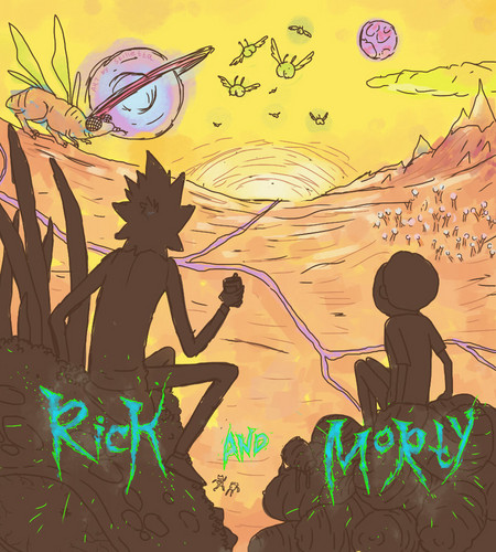 Rick and Morty 바탕화면 with 아니메 titled rick and morty sketch 의해 stilletta d761a9y