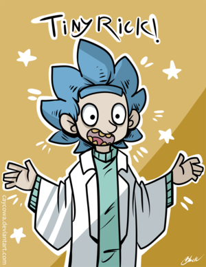 rick and morty   tiny rick  by caycowa d9r5gcw