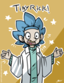 rick and morty tiny rick oleh caycowa d9r5gcw