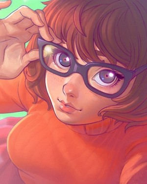scooby doo fan art anime style velma vista previa
