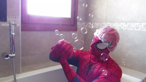 spiderman bath