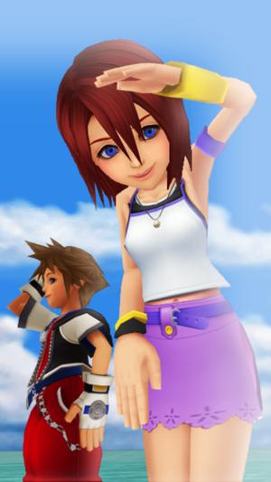 2016 - 04 - 20  Sora and Kairi KH1 MMD Version.