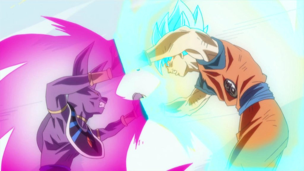 *Goku Super Saiyan God v/s Beerus*