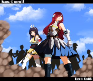 *Kagura / Erza In Battle Field*