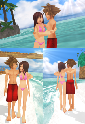 One Sky  One Sea  Sora and Kairi  Forever.