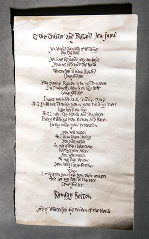Ramsay's Letter to Jon Snow