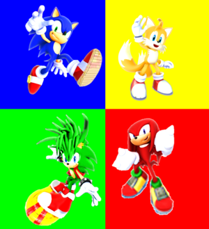 Sonic Manic Tails and Knuckles