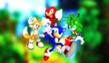 Sonic  Tails  Knuckles and his brother Manic  Best Buds  - sonic-the-hedgehog photo