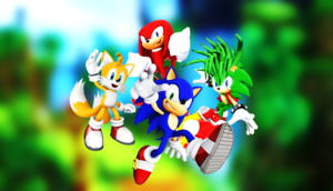 Sonic Tails Knuckles and his brother Manic Best Buds