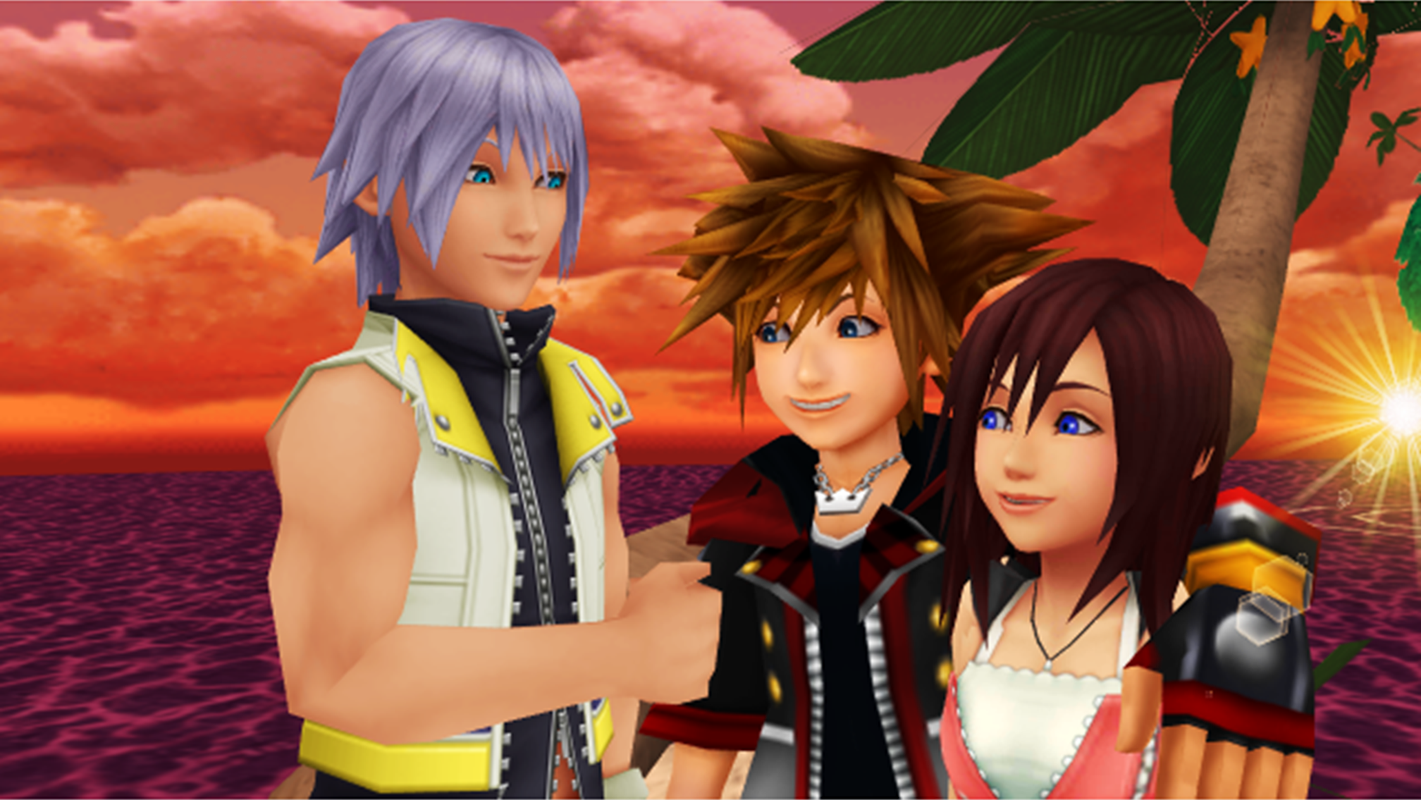 kingdom hearts trios images sora kairi and riku are best freinds