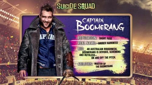 Suicide Squad wallpaper with a sign called 'Suicide Squad' - Meet 'The Team' ~ Captain Boomerang