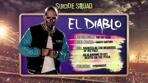 Suicide Squad wallpaper containing a sign called 'Suicide Squad' - Meet 'The Team' ~ El Diablo