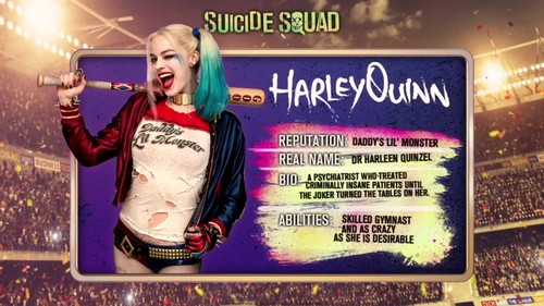 Suicide Squad fondo de pantalla with a sign called 'Suicide Squad' - Meet 'The Team' ~ Harley Quinn
