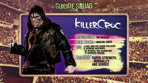 Suicide Squad 바탕화면 probably with 아니메 called 'Suicide Squad' - Meet 'The Team' ~ Killer Croc