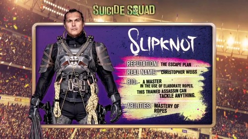 Suicide Squad fondo de pantalla probably containing a sign and anime entitled 'Suicide Squad' - Meet 'The Team' ~ Slipknot