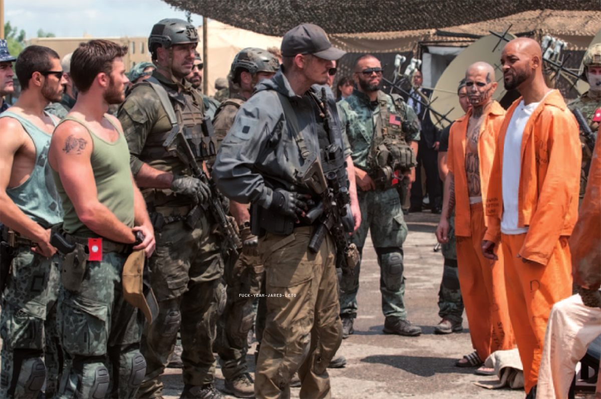 'Suicide Squad' Still ~ Rick Flag, El Diablo and Deadshot