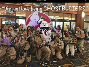"""We just amor being GHOSTBUSTERS!"""