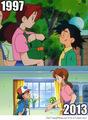 1997 and 2013 - pokemon fan art