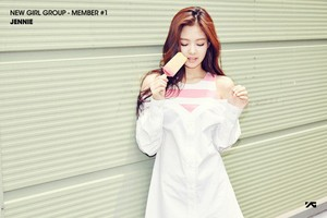 1st member of the upcoming girl group Jennie Kim!