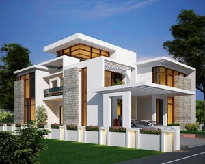 2978 sq.ft Kerala trang chủ elevation
