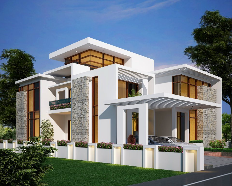 Interior design images 2978 kerala home elevation hd for Hd house elevation