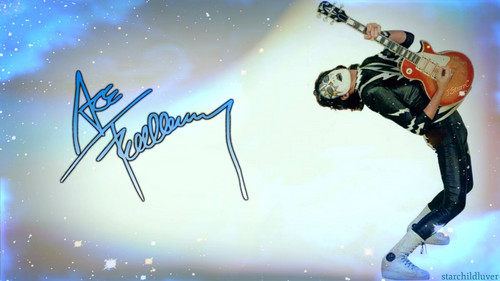 baciare Guitarists wallpaper probably with a snowboard titled Ace Frehley