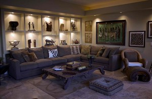 African-Themed Living Room