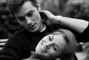 Alain Delon and Natalie Delon (1964)
