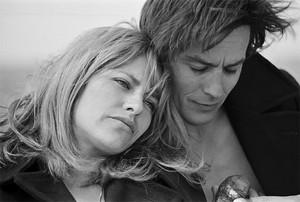 Alain Delon and Nathalie