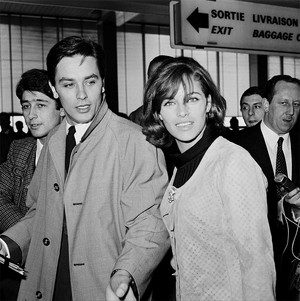 Alain Delon and Nathalie